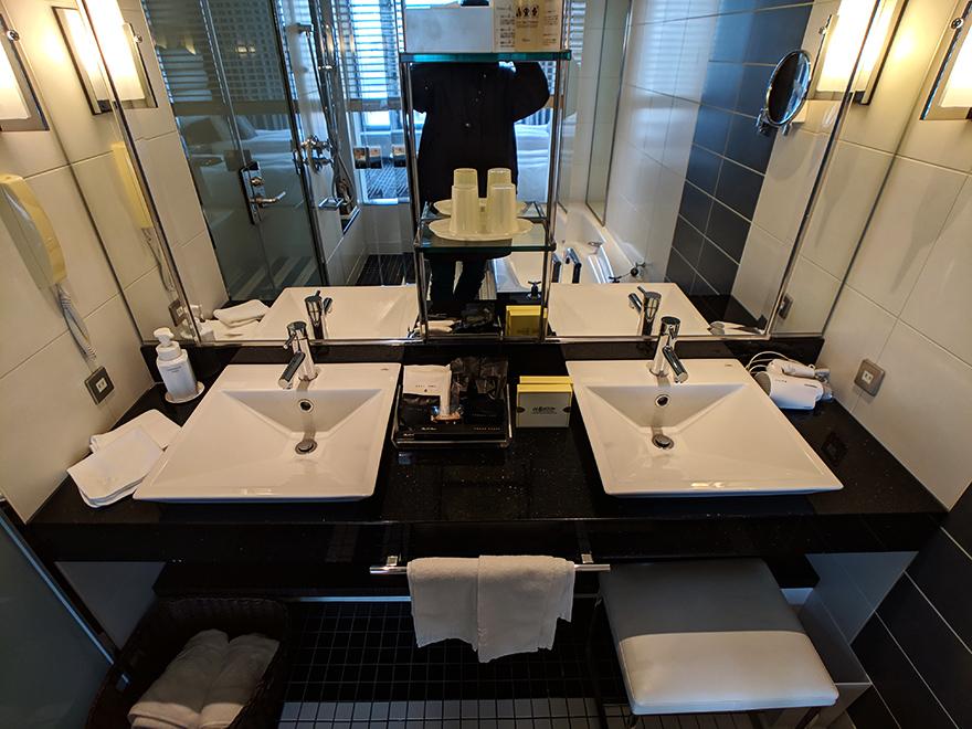ニューオータニイン横浜プレミアム ホテル みなとみらい 横浜 部屋 洗面台