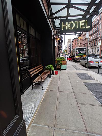 ニューヨーク旅行 ローワー・イースト・サイド The Ludlow Hotel ルドローホテル