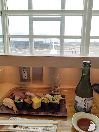 ニューヨーク旅行 羽田空港 フードコート お寿司