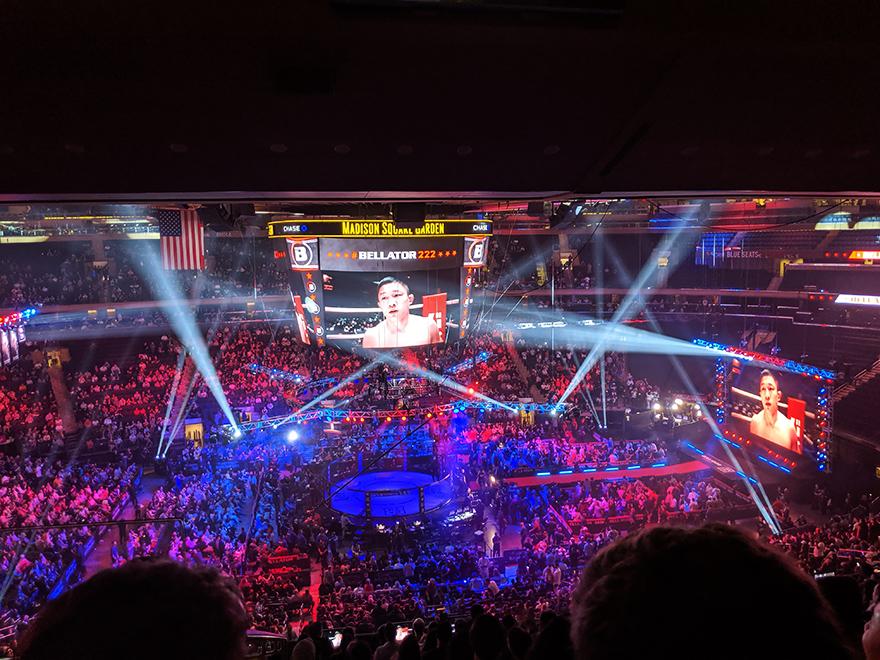 ニューヨーク旅行 マディソンスクエアガーデン Madison Square Garden ベラトール Bellator MMA