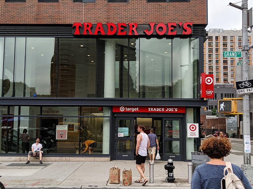 ニューヨークのマーケット「トレーダージョーズ」