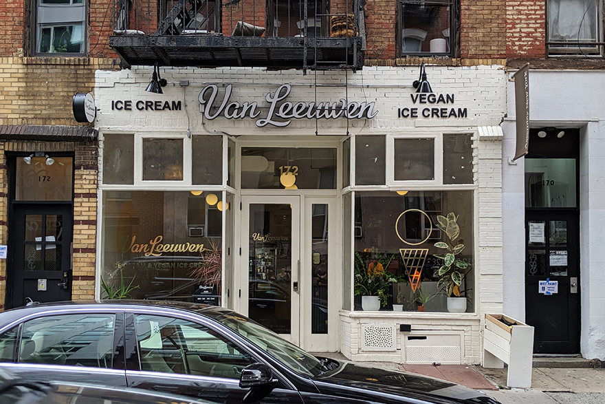 ニューヨークのビーガンアイスクリーム屋さんVan Leewen
