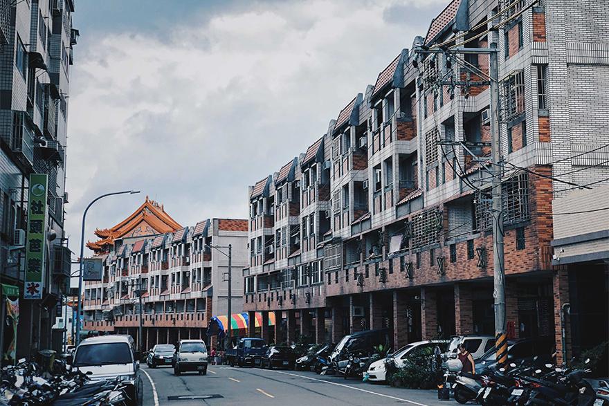 台湾台中の街並み
