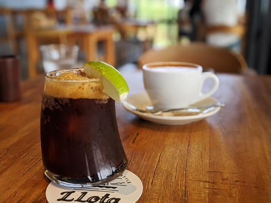 沖縄県古宇利島にあるレストランカフェ「Restaurant L LOTA(エルロタ)」のエスプレッソソーダ
