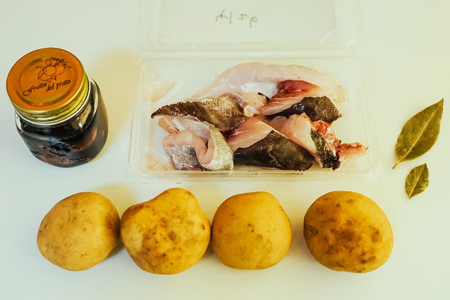 おうちフレンチ「鱈のブランダード」の材料