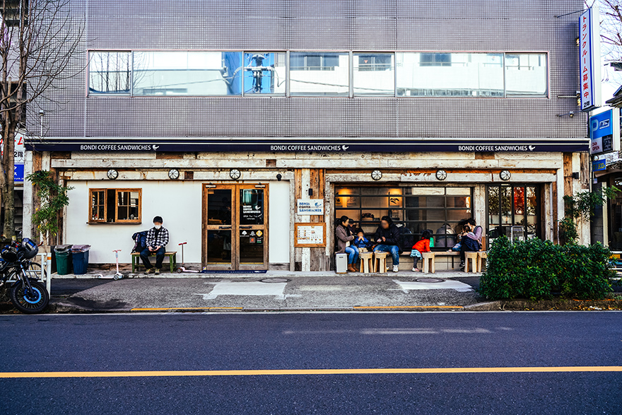 渋谷区富ヶ谷にあるボンダイ コーヒー サンドウィッチーズ