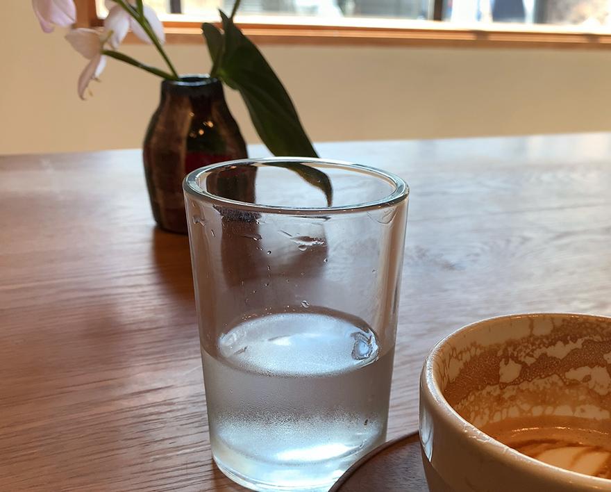パドラーズコーヒーのグラス